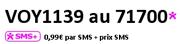 Voyance par tchat SMS en envoyant VOY1139 ay 71700 - 0.99 € par SMS + prix SMS - voyance-ligne.com
